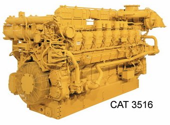 Caterpillar 3516 diesel engine