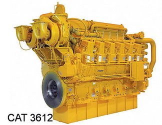Caterpillar 3612 diesel engine