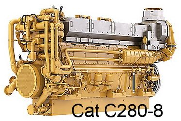 Caterpillar C280-8 diesel engine