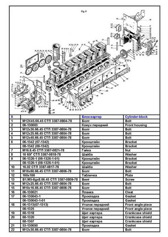 pervomaysk diesel engine chn spare parts catalog spare parts