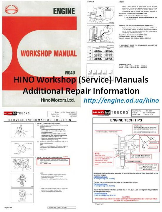 Hino Engine Manuals  U0026 Parts Catalogs