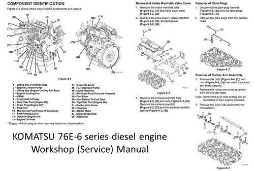 Komatsu 76E-6 Diesel Service/Workshop manual