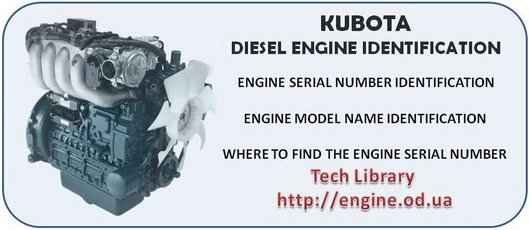 KUBOTA 4 cylinder Diesel Engine Manuals & Parts Catalogs