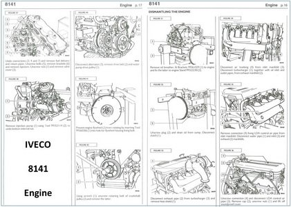 Case iveco engine wd2302 windrower parts manual book catalog spare.