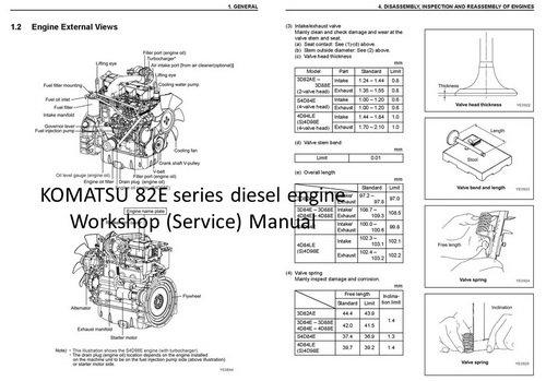 KOMATSU 80, 82, 84, 88 series engine Manuals & Parts Catalogs