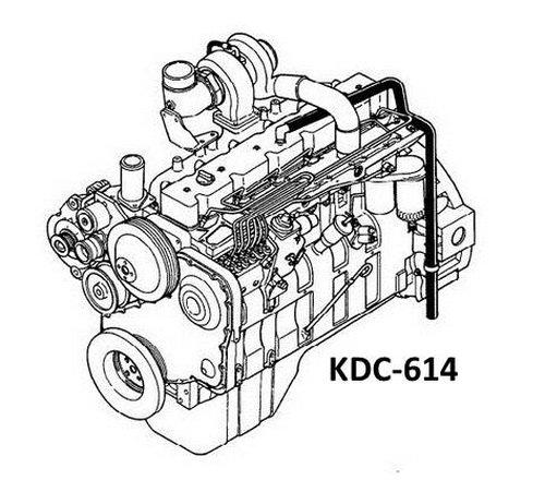 KOMATSU KDC 1150 1710 220 855 Engine Manuals Parts