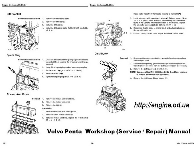 volvo penta engine manuals parts catalogs