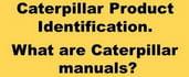 Caterpillar machinery identification